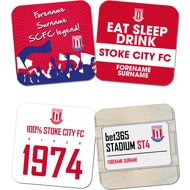 Personalised Stoke City FC Coasters