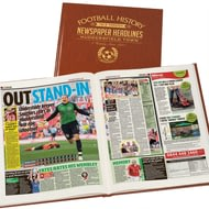 Personalised Huddersfield Football Newspaper Book - Leatherette Cover