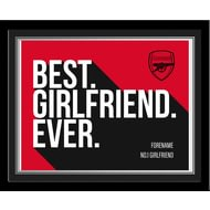 Personalised Arsenal FC Best Girlfriend Ever 10x8 Photo Framed