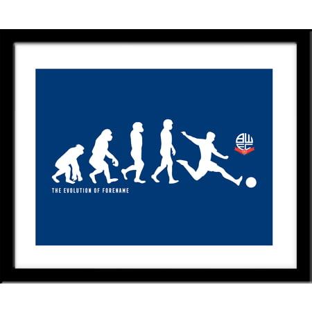 Personalised Bolton Wanderers Evolution Framed Print