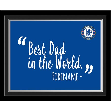 Personalised Chelsea FC Best Dad In The World 10x8 Photo Framed