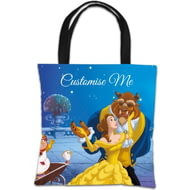 Personalised Disney Beauty And The Beast Balcony Scene Tote Bag
