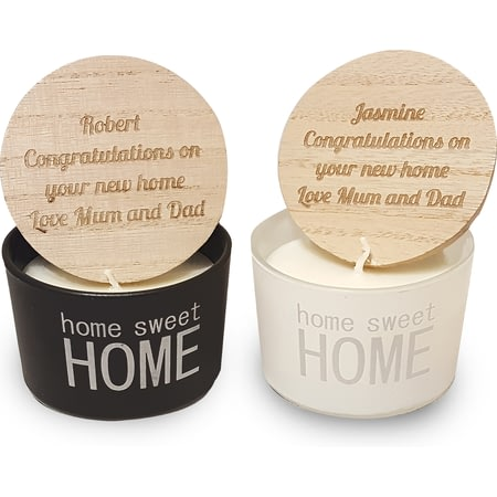 Personalised Home Sweet Home Scented Candles