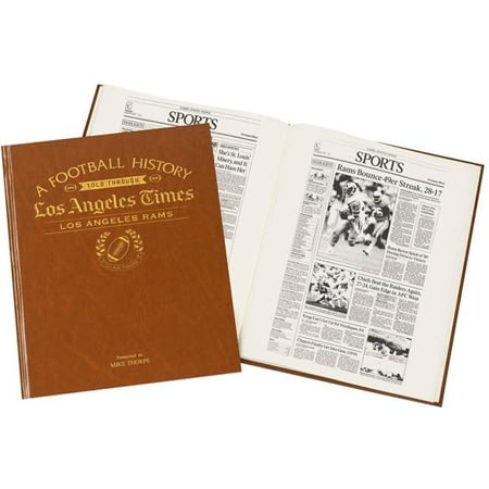 Personalised Los Angeles Rams American NFL Football Newspaper Book