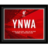 Personalised Liverpool FC Champions 2020 YNWA Photo Framed