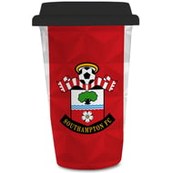 Personalised Southampton FC Crest 350ml Reusable Tea / Coffee Cup with Lid