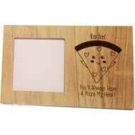 Personalised Pizza My Heart Panel Photo Frame