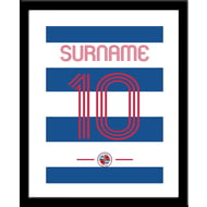 Personalised Reading FC Retro Shirt Framed Print
