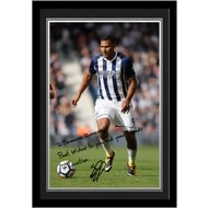 Personalised West Bromwich Albion FC Rondon Autograph Photo Framed