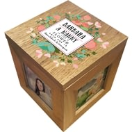 Personalised Beautiful & Unique Wooden Photo Cube