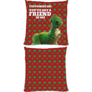 "Personalised Toy Story Rex Valentines ""You Gotta Friend In Me"" Cushion - 45x45cm"