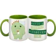 Personalised Green Monster Hangover Ceramic Mug
