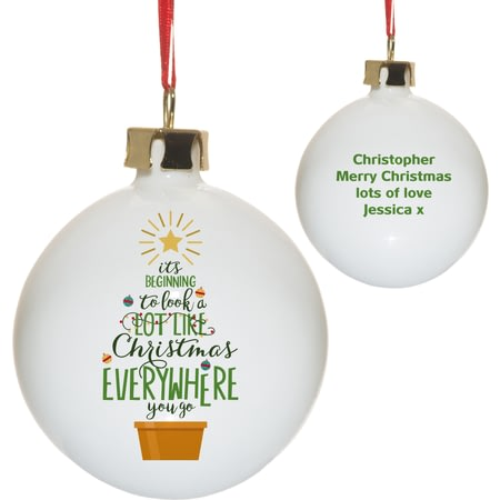 Personalised It's Beginning To Look A Lot Like Christmas Tree Bauble