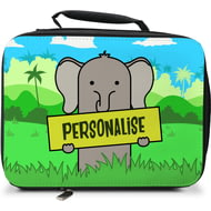 Personalised Kids Elephant Insulated Lunch Bag