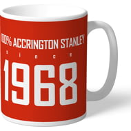 Personalised Accrington Stanley 100 Percent Mug
