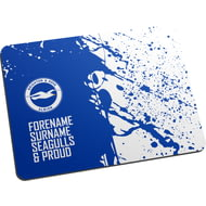 Personalised Brighton & Hove Albion FC Proud Mouse Mat