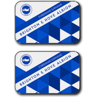 Personalised Brighton & Hove Albion FC Patterned Rear Car Mats