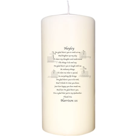 Personalised Godparent Poem Candle