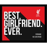 Personalised Liverpool FC Best Girlfriend Ever 10x8 Photo Framed