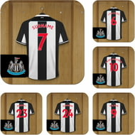 Personalised Newcastle United FC Dressing Room Shirts Coasters Set of 6