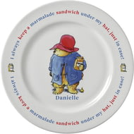 "Personalised Paddington Bear Marmalade Sandwich 8"" Ceramic Plate"