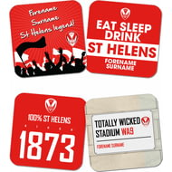Personalised St Helens Coasters