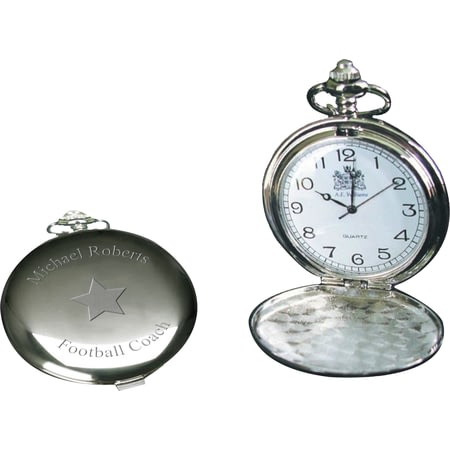 Personalised Star Chrome Fob Watch