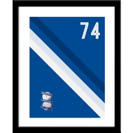 Personalised Birmingham City Stripe Framed Print