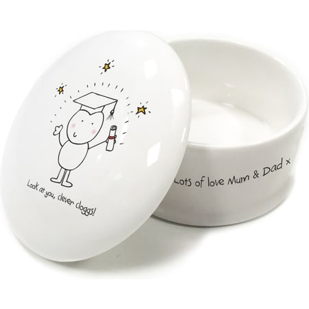 Personalised Chilli & Bubble's Graduation Trinket Box