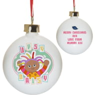 Personalised In The Night Garden Pastel Upsy Daisy Ceramic Bauble