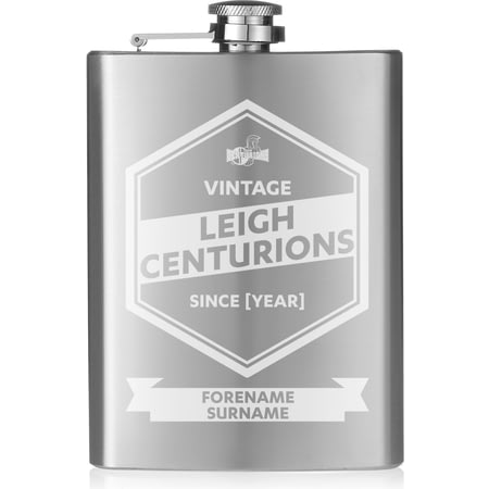 Personalised Leigh Centurions Vintage Hip Flask