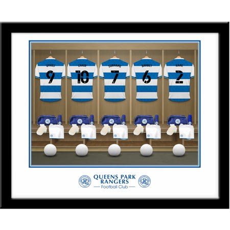 Personalised Queens Park Rangers FC Dressing Room Shirts Framed Print