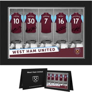 Personalised West Ham United FC 9x6 Dressing Room Shirts Photo Folder