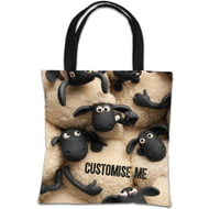 Personalised Shaun The Sheep Group Print Tote Bag