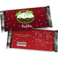 Personalised Christmas Chocolate Bar - Xmas Pud