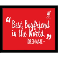Personalised Liverpool FC Best Boyfriend In The World 10x8 Photo Framed