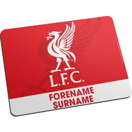 Personalised Liverpool FC Bold Crest Mouse Mat