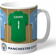 Personalised Manchester City FC Goalkeeper Dressing Room Shirts Mug