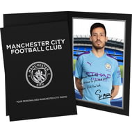 Personalised Manchester City FC Silva Autograph Photo Folder
