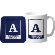 Personalised Tottenham Hotspur FC Monogram Mug & Coaster Set