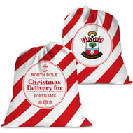 Personalised Southampton FC Christmas Delivery Santa Sack