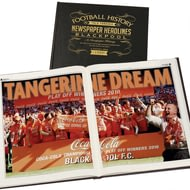 Personalised Blackpool Football Newspaper Book - A3 Leather Cover