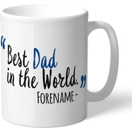 Personalised Chelsea FC Best Dad In The World Mug