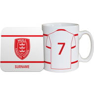 Personalised Hull Kingston Rovers Shirt Mug & Coaster Set