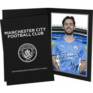Personalised Manchester City FC Bernardo Autograph Photo Folder