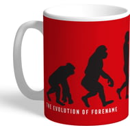 Personalised Manchester United Evolution Mug