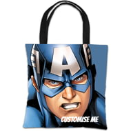 Personalised Marvel Avengers Assemble Captain America Tote Bag