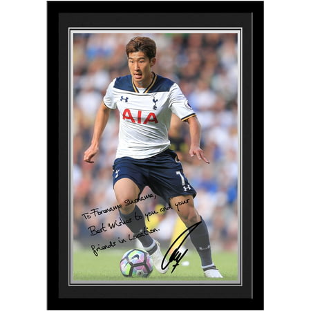 Personalised Tottenham Hotspur FC Son Autograph Photo Framed