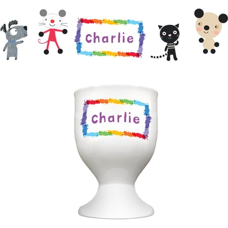 Personalised Arty Mouse Scatter Simple Character Egg Cup