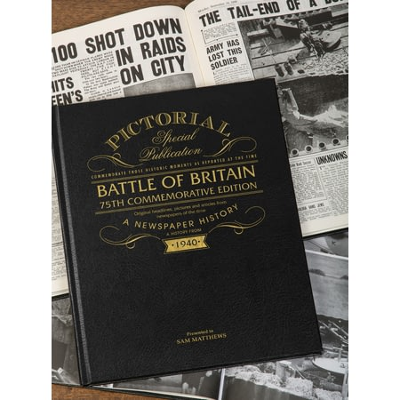 Personalised Battle Of Britain Pictorial Edition Newspaper Book